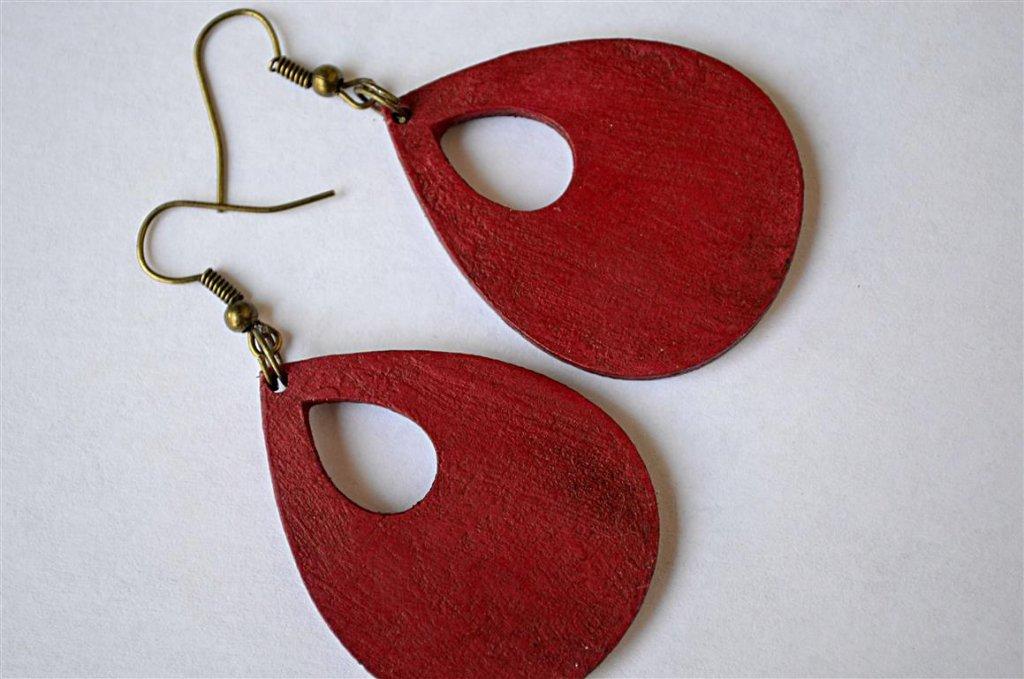 piros antikolt fülbevaló